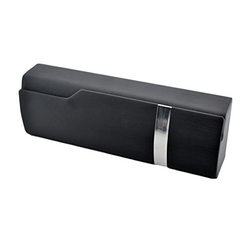 Black Plain Clam - Kylin Express Perfect Sunglasses/Eyeglasses Case Hard Clamshell Case for Men & Women Black A