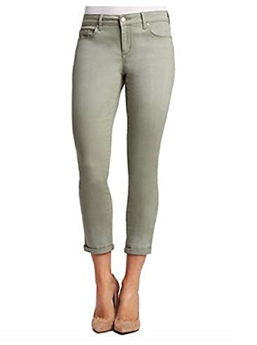 Jessica Simpson Women's Rolled Crop Skinny Jean (8/29, Meadow (Meadow Green Apparel)
