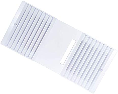 Amazon Com Tekquest Ca 90 Ductless Exhaust Fan Louver Grill White Size 11 15 16 5 5 8 Kitchen Dining