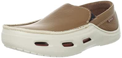 Crocs Men's Tideline Sport Leather Loafer,Hazelnut/Stucco,13 M US