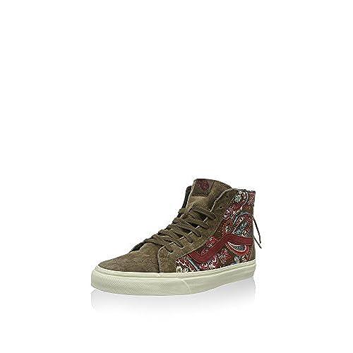 hot sale Vans Sk8 Hi Zip CA Paisley Olive Skate Shoes 6.5 B