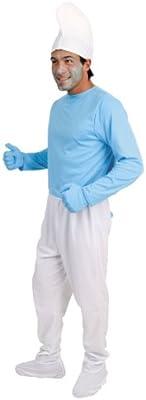 Imps - Disfraz de pitufo gruñón con gorro blanco para hombre ...