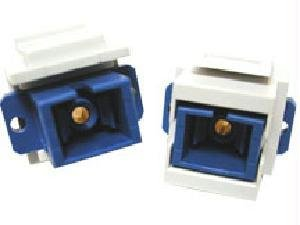 C2G 03816 Snap-In SC Fiber Optic F/F Keystone Insert Module, Ivory