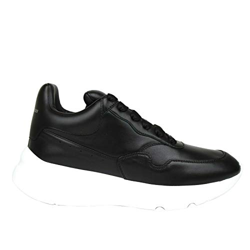 Alexander McQueen Black Leather Men's Platform Sneakers 505033 1000 (41 EU / 7.5 US)