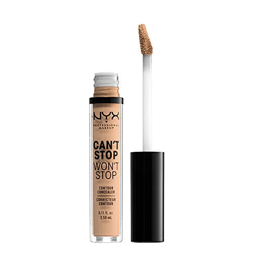 NYX PROFESSIONAL MAKEUP Can't Stop Won't Stop Contour Concealer, Natural, 0.11 Ounce