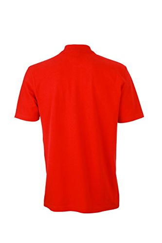 James & Nicholson Herren Poloshirt Basic Polo, Rot (Red), XXX-Large