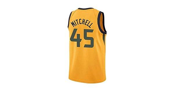 Camiseta de Baloncesto for Hombre - Jazz Donovan Mitchell No. 45 ...