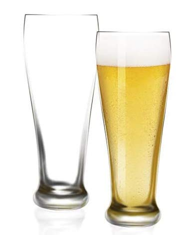 [6-Pack,16 Oz]DESIGN•MASTER -Premium Pilsner Glasses, Beer Glass for Better Head Retention, Aroma and Flavor, Perfect…