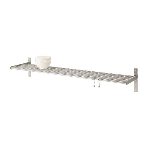 Ikea 000.114.28 Grundtal Wall shelf, stainless steel, 31 1/2 inch