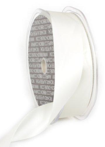 Ampelco Ribbon Company Double Face Satin Ribbon Company, 1-Inch by 27-Yard, Soft (Ivory Double Satin Offray Ribbon)