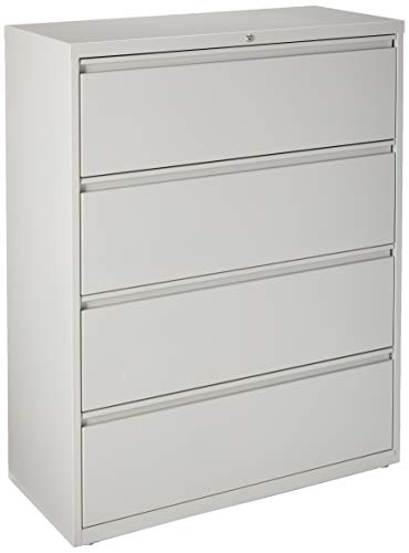 Lorell 4-Drawer Lateral File, 42 by 18-5 8 by 52-1 2-Inch, Gray
