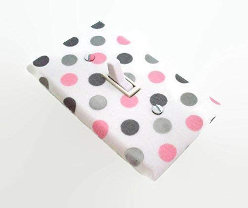 Amazoncom Polka Dots Light Switch Cover In Pink And Grey Handmade