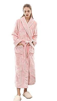 Semir Women's Plush Soft Warm Fleece Kimono Bathrobe Robes Side Pockets