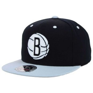 Mitchell & Ness Brooklyn Nets 2-Tone Fitted Baseball Cap - 7 3/8