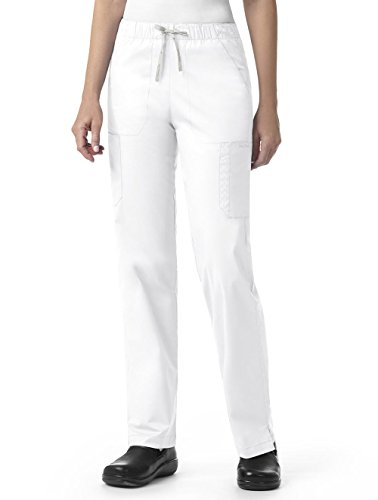 (Vera Bradley Signature Collection Women's Florence Quilted Cargo Scrub Pant- White- Large)