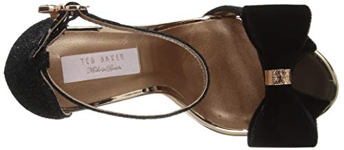 Bowdalo blk Baker Abierta Con Negro Para Punta Mujer Ted Black Zapatos Tacón De T5n0P