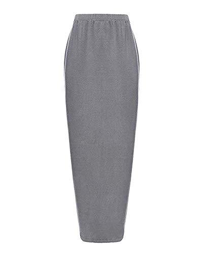 Grey Crayon De Size La Élastiquée Jupe Xl Longue 29 Maxi Black Cheville Inch Femmes waist 92 Andre Longueur color Stretch Taille znWRXg1