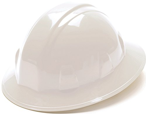 Pyramex White Full Brim Hard Hat with 4pt