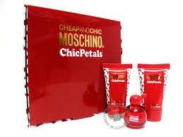 Moschino CHIC PETALS Women 3pc Mini Set (4.9ml EDT, 0.8 BL, 0.8 SG)
