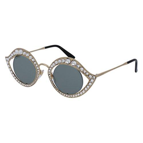 Gucci Sunglasses GG 0046 S- 001 GOLD / GREEN