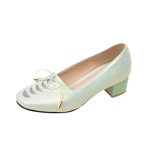 Show Shine Damesmode Sweet Bow Loafers Schoenen Lichtgroen