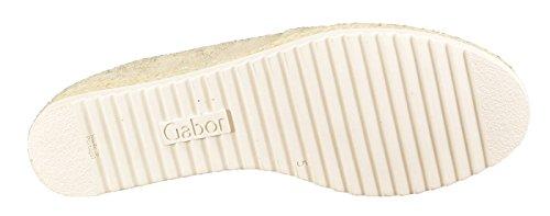 Mocassini metallizzato Gabor visone 62 412 piatti 44 Donna Hfv1x4
