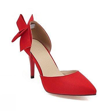 Le donne eleganti sandali SEXY DONNA PRIMAVERA tacchi cadono Comfort similpelle Office & Carriera Abito casual Stiletto Heel Nero Rosso Beige , nero , us6.5 / EU38 / UK5 big kids