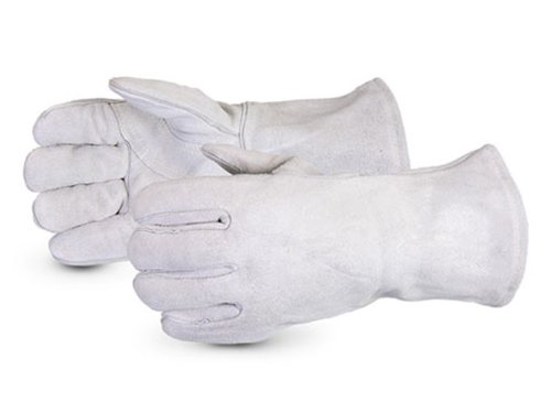 Superior 505GMB Iron Wolf Deluxe Cowhide Splitskin Leather Welding Glove with HeatStop Lining and Kevlar Sewn, Work, Gray (Pack of 1 Dozen)
