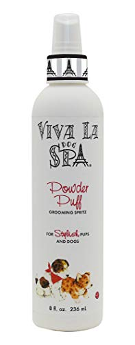 Viva La Dog Spa Powder Puff Spritz Grooming Spray, 8-Ounce