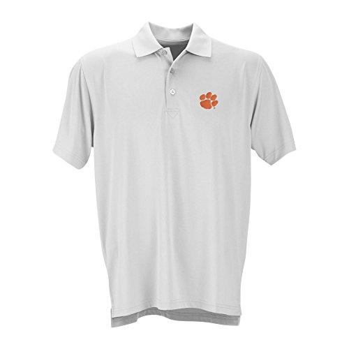 Clemson Tigers Performance Polo White - (Clemson University Golf)