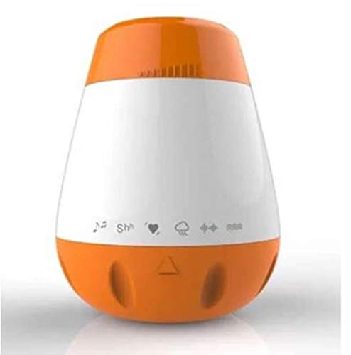 Mini White Noise Machine by Reebello – 6 Different Sounds, Voice-Activated Sensor, 30 min Timer auto-Off, Volume Control, Rechargeable Battery – Portable with Clip – Help to Soothe Your Crying Baby