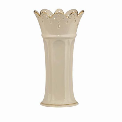 Lenox Linen and Lace Medium-Size Porcelain Vase
