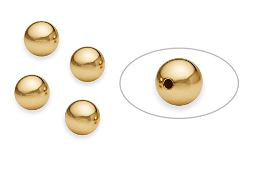 - 5 Pieces 10 mm 14K Gold Filled Round Smooth Beads