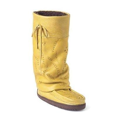 Manitobah Mukluks Tall Gatherer Mukluk Tan - 10   Knee-High