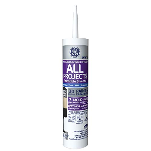 GE XST Extreme Silicone II White Sealant, 10.1-Ounce Cartridge #GE7000