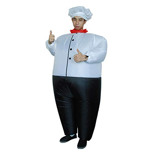 GLVSZ Carnival Halloween Costume Inflatable Suit Chef Costume Funny Party Dress -