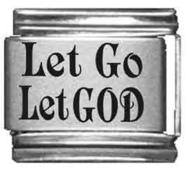 Let Go, Let God Laser Italian Charm ()