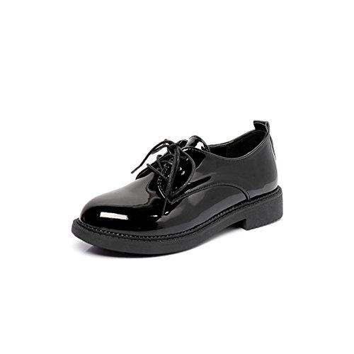 Zapatos de las señoras de primavera/Versión coreana de los zapatos de Joker/Espesor con zapatos ligeros/Viento de zapatos Inglaterra mujeres A