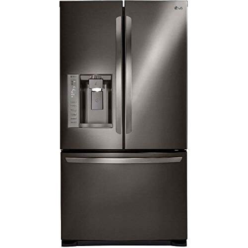 LG Stainless Steel 24 cu. ft. Ultra Capacity 3-Door French Door Refrigerator with Dual Ice Makers, Black -