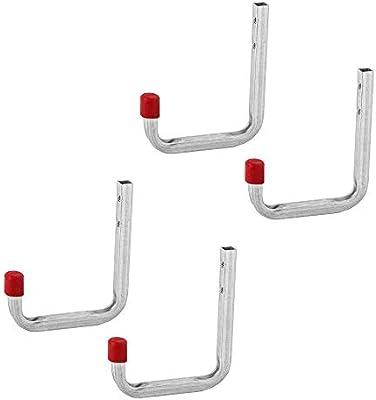 4 ganchos de pared para garaje, taller, escalera, ganchos, pared para atornillar: Amazon.es: Bricolaje y herramientas