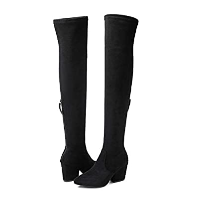N.N.G Women Boots Winter Over Knee Long Boots Fashion Boots Heels Autumn Quality Suede Comfort Square Heels US Size | Over-the-Knee