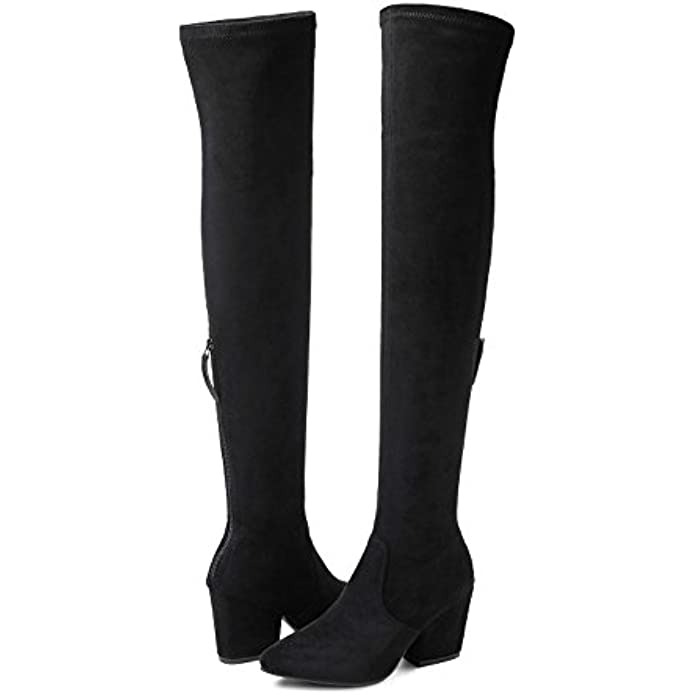 Women Boots Winter Over Knee Long Boots Fashion Boots Heels Autumn Quality Suede Comfort Square Heels US Size