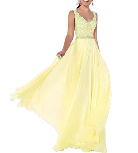 Lange Ballkleider Kleider Meerjungfrau LLY189 Gelb Brautjungfer Damen Abendkleider Pailletten pESwx7q