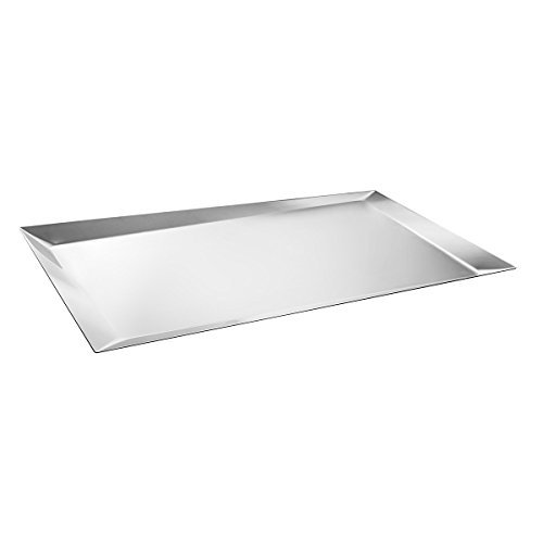 Alessi Alice Tray in 18/10 Stainless Steel Mirror Polished, Silver by Alessi by Alessi
