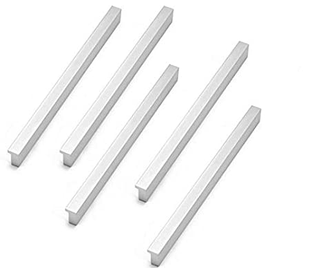 Liyafy 5Pcs 190mm//7.48 Length 160mm//6.29 Center to Center Sliver Cabinet Knob and Pulls Alloy Die-Cast Drawer Handles for Kitchen