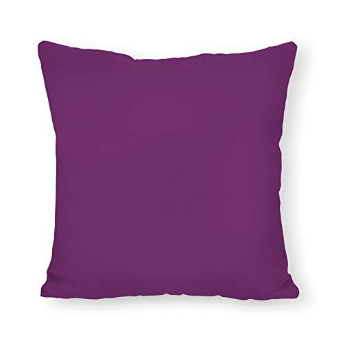 FabricMCC Sunbrella Iris Linen Pillow Cover, Purple Outdoor Throw Pillow Cover, Violet Purple Throw Pillow, Decorative Plum Outdoor Throw Pillowcase 20 x 20 Inch