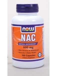 Now Foods NAC 600 mg - 100 Vcaps 12 Pack by NOW