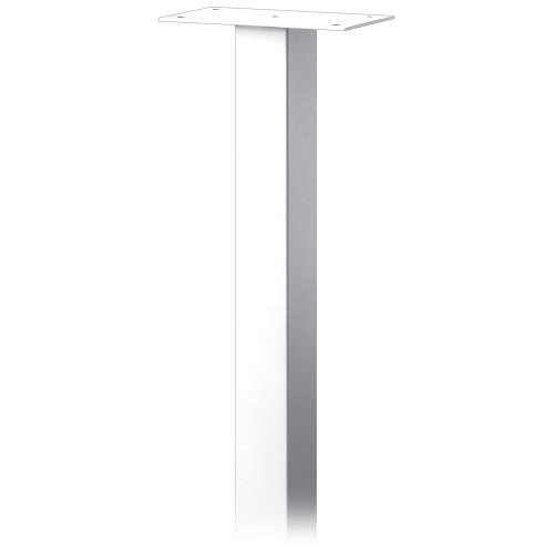 (Salsbury Industries 4385WHT Standard Pedestal In-Ground Mounted for Roadside Mailbox, Mail Chest and Mail Package Drop, White)