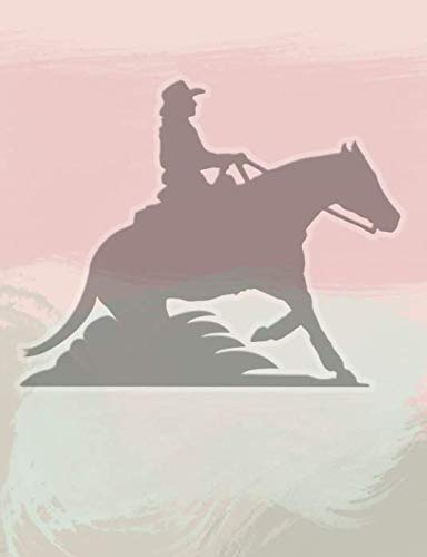 Notebook for Equestrians: Pink Watercolor Drawing Pad and Journal for Cowgirls and Reining Fans (Equestrian Sports Notebooks for Spring 2019)