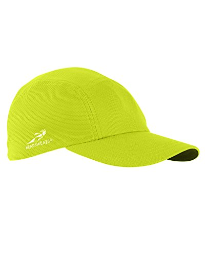 - Headsweats Performance Race/Running/Outdoor Sports Hat, High Visibility Yellow
